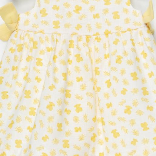 Vestido S/M de corte evasé Yellow Amarillo