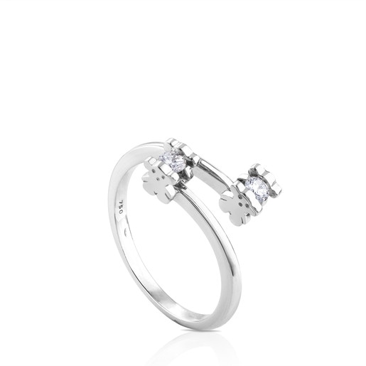 White Gold Sweet Diamond Ring with with Diamond