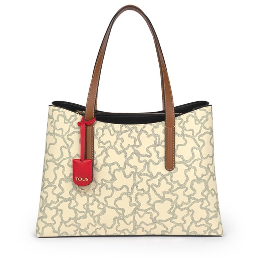 Shopping Grande Kaos Icon Multi Beige - Rojo