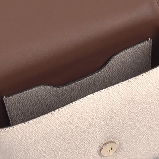 Μπεζ και καφέ τσάντα Χιαστί TOUS Essential