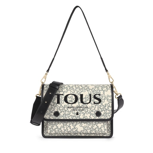 Medium beige and black Audree Kaos Mini shoulder bag