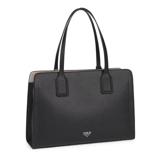 Large black TOUS Essential City bag