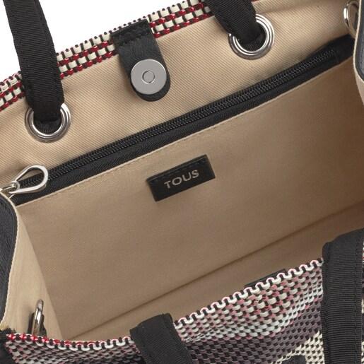 Mittelgroße Shopping-Tasche Amaya aus gewebtem Tweed
