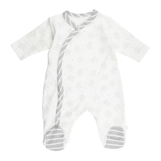 Galaxy sleepsuit in White