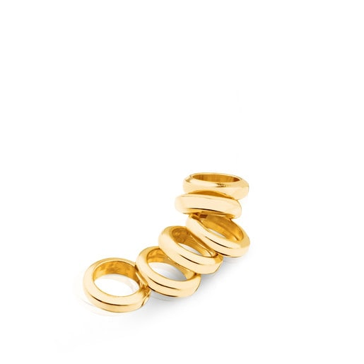 Pack of 6 Vermeil Silver Hold Rings
