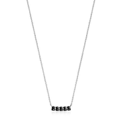 Collar Mini Onix - Color de Plata con Ónix