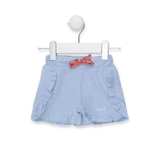 Short de niña Casual rayado Azul Celeste