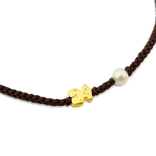 Gold Sweet Dolls XXS Bracelet with Pearl and Bear motif.