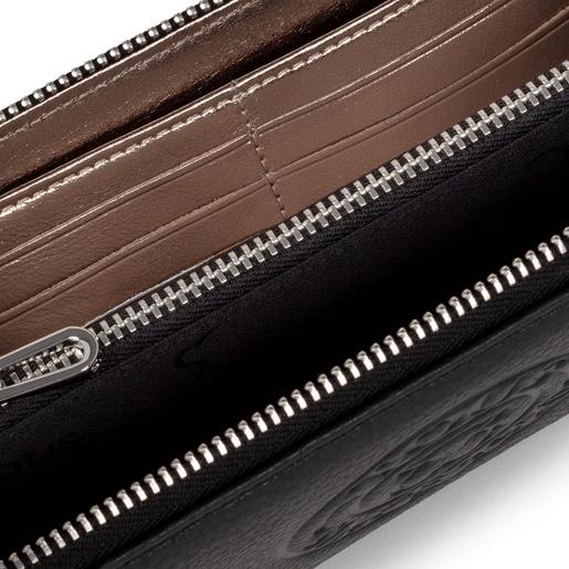 Billetera mediana New Leissa de piel negro