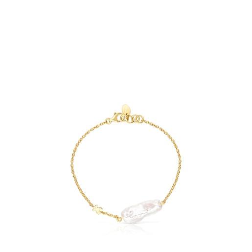 Βραχιόλι TOUS Pearls από Ασήμι Vermeil με Μαργαριτάρι