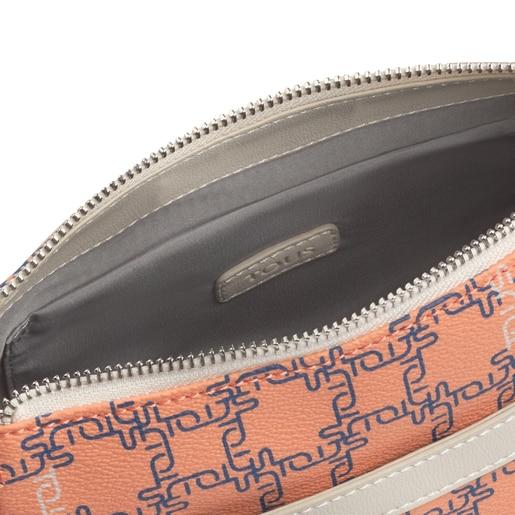 Kleine Schultertasche TOUS Logogram in Orange und Beige