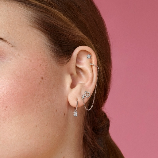 White Gold Sweet Dolls Earrings