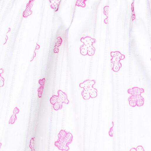 Vestido de alças com folhos Jean Rosa
