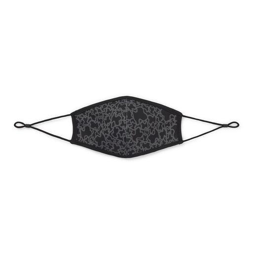 Mascarilla Kaos Mini reutilizable en color negro con funda