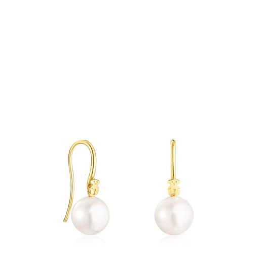 Aretes cortos Gloss de plata vermeil y perla