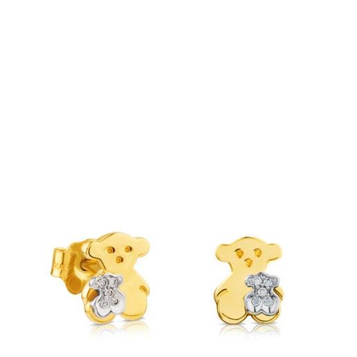 Gold Sweet Dolls Earrings with Diamonds