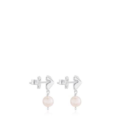 Silver Tack Earrings