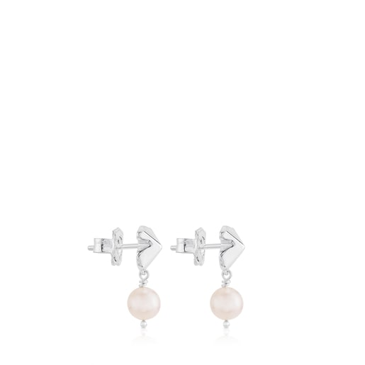 Silver Tack Earrings