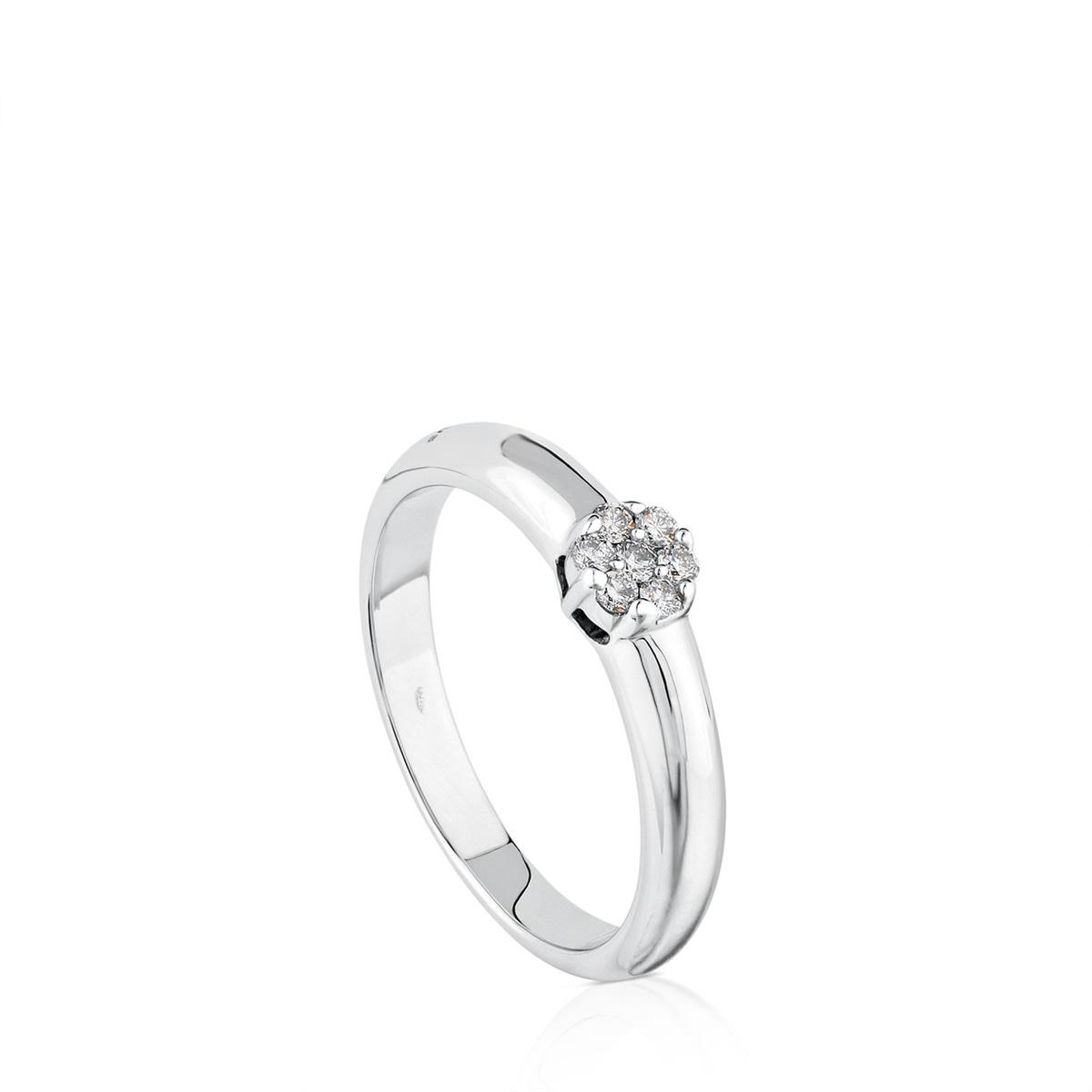 35c02c43df35 Anillo TOUS Diamonds de Oro blanco con Diamantes - Sitio web Tous España