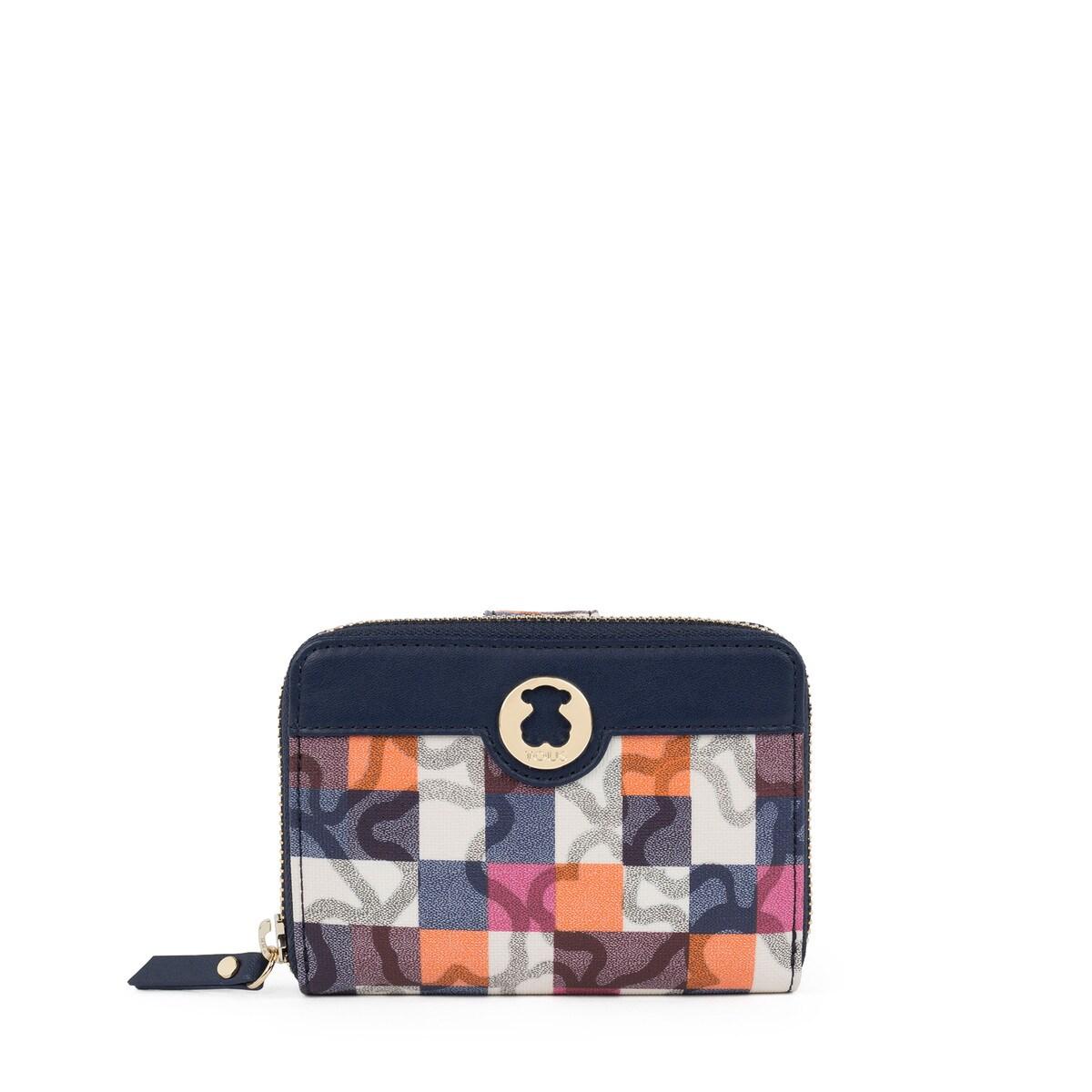 3e3185b9b Billetero pequeño Kaos Vichy de Lona en color marino - Sitio web ...