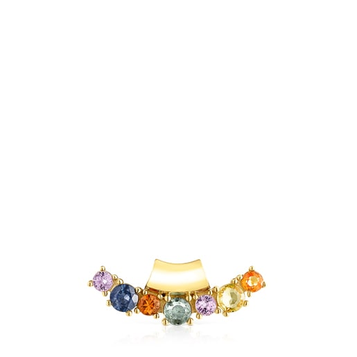 Silver Vermeil Glaring Pendant with multicolored Sapphires