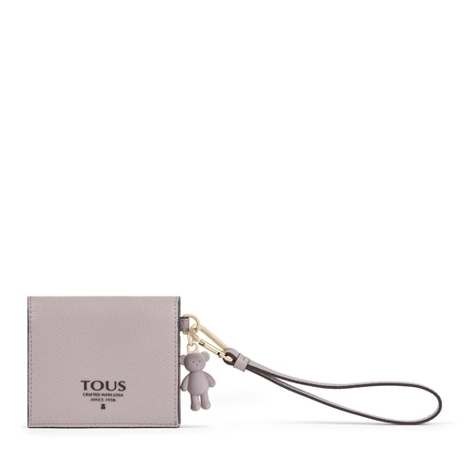 Small mauve colored TOUS Pop Wallet