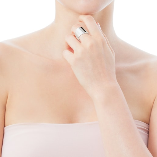 Smooth Silver TOUS Basics Ring