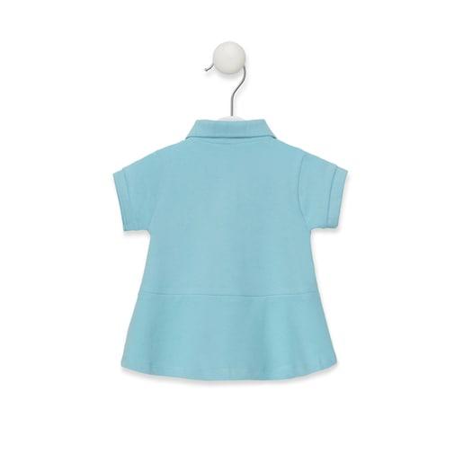Vestido M/C polo Azul Celeste