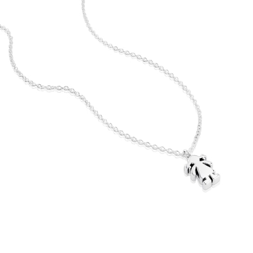 Silver Sweet Dolls girl Necklace
