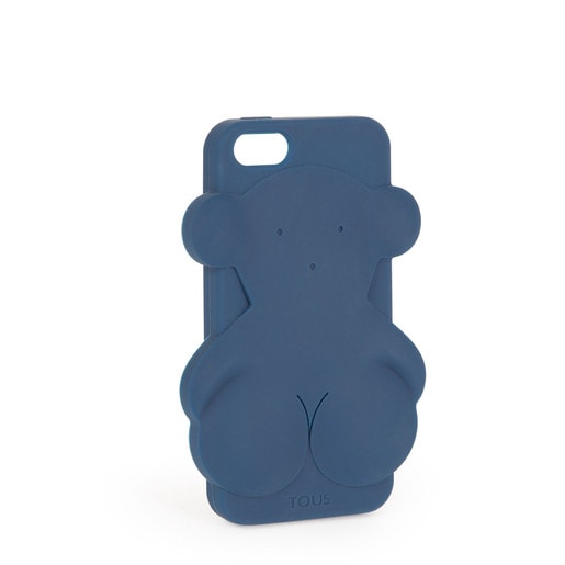 Funda de móvil iPhone 5 Rubber Bear en color marino