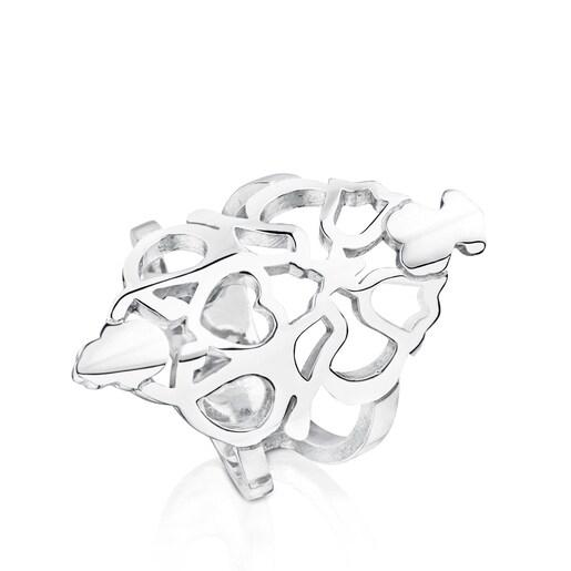 Silver Motif Power Ring