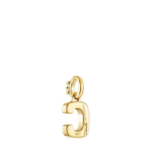 Alphabet-Anhänger C aus Vermeil-Gold