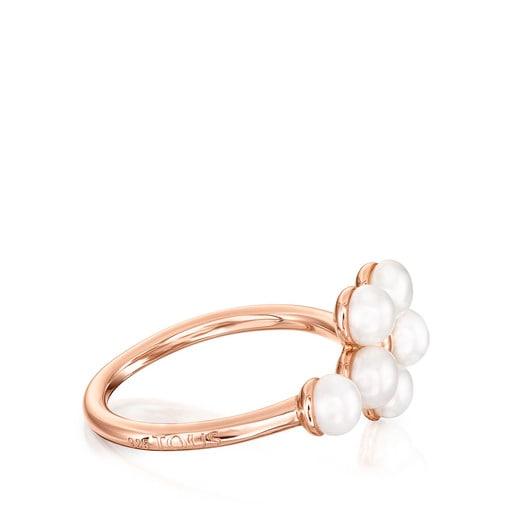 Bague Real Sisy en Or Vermeil rose avec Perles