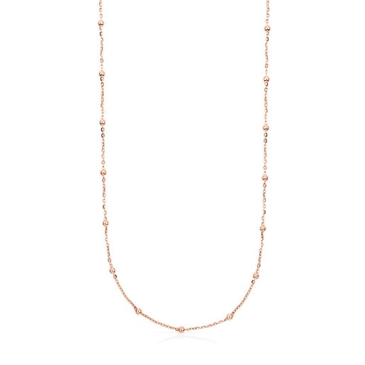Rose Vermeil Silver TOUS Chain Choker 45cm.