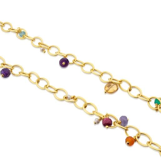 Collar de plata vermeil con gemas Elise