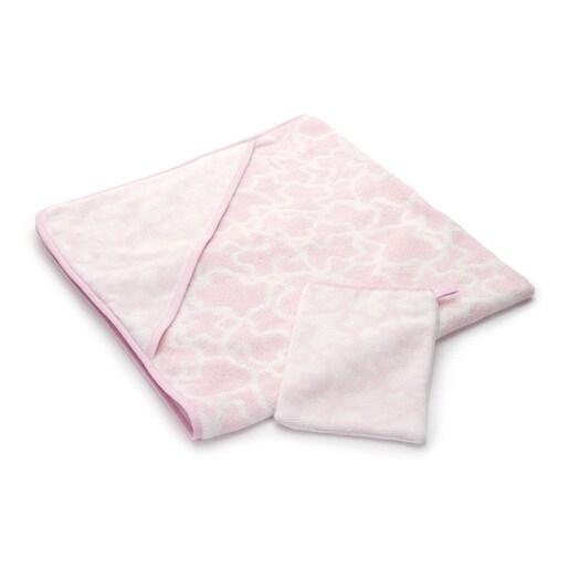 Capa de banho Kaos com Luva Rosa