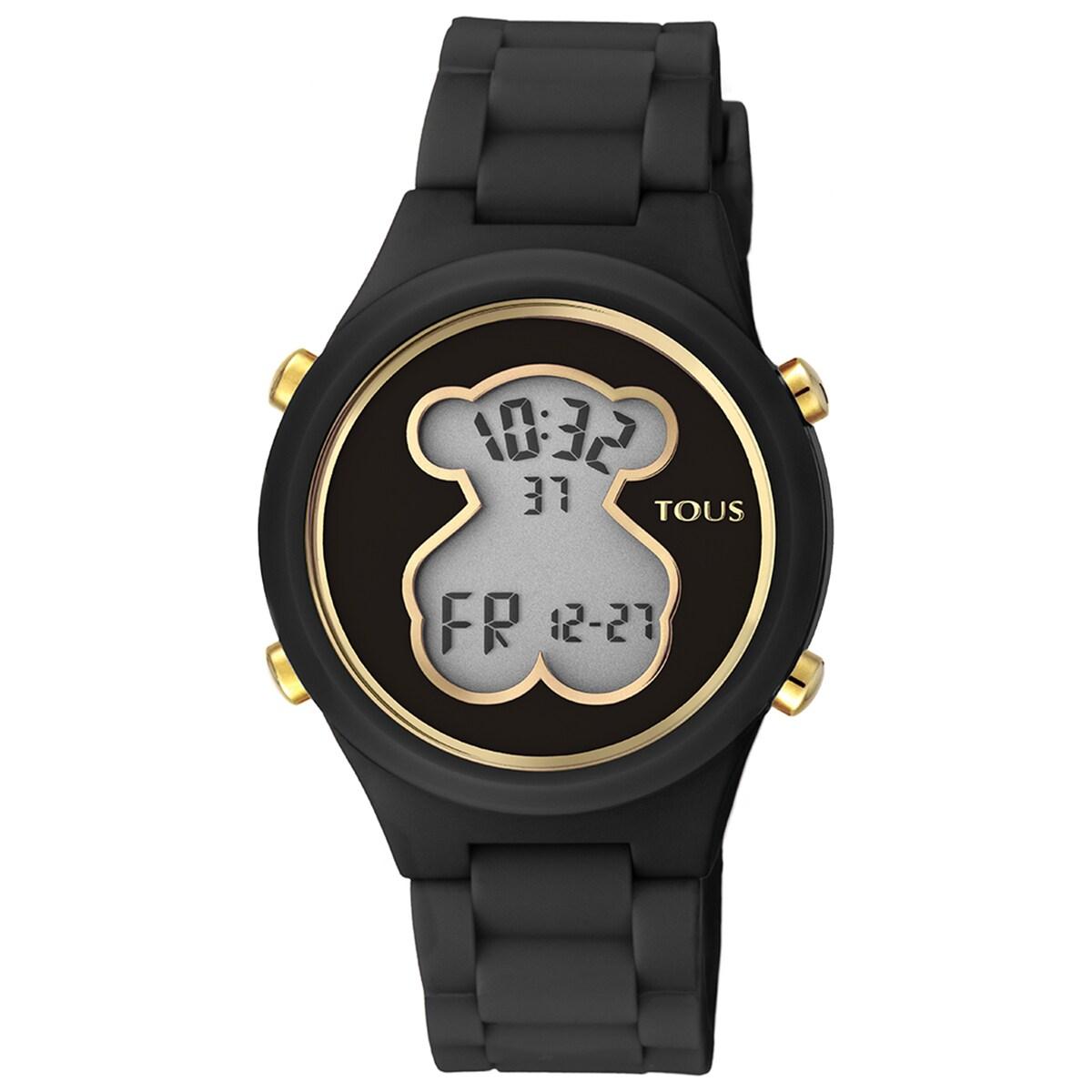 Ρολόι D-Bear από Πολυανθρακικό με μαύρο λουράκι από σιλικόνη