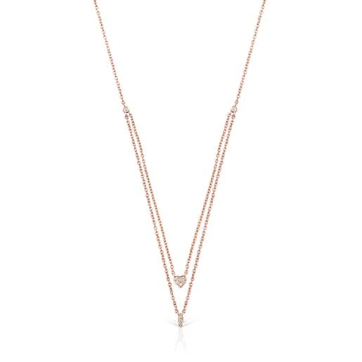 Collier Les Classiques en Or rose avec Diamants