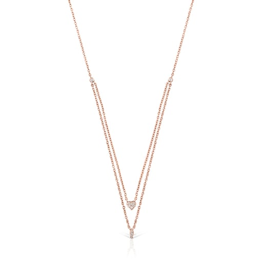 Collar Les Classiques de Oro rosa con Diamantes