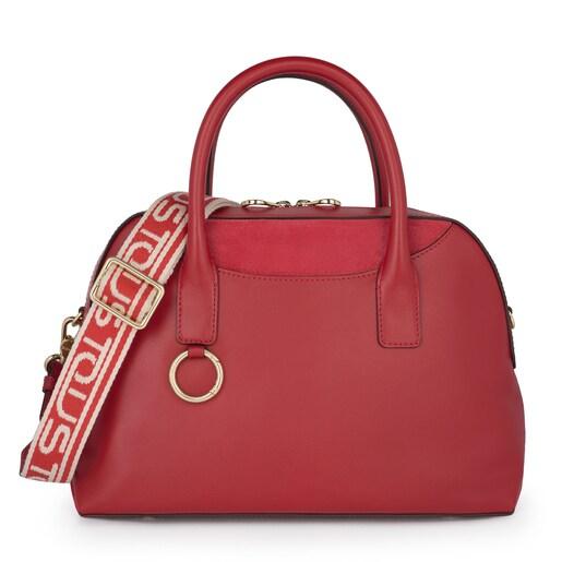 Red Leather Zafiro Bowling bag