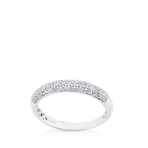 White Gold Les Classiques Ring with Diamond. 0,33ct.