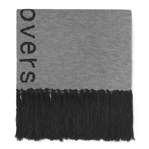 Gray Opalo Hooded Scarf/Poncho