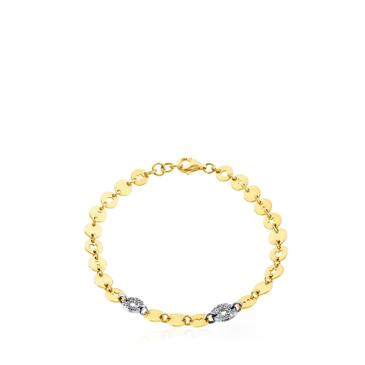 Pulsera Confeti de Oro blanco