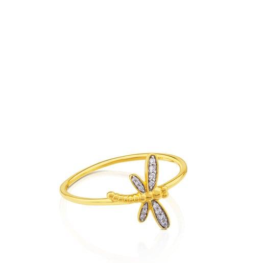 Anel Bear em Ouro com Diamante