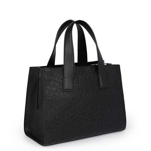 City-Tasche Sira aus Leder in Schwarz