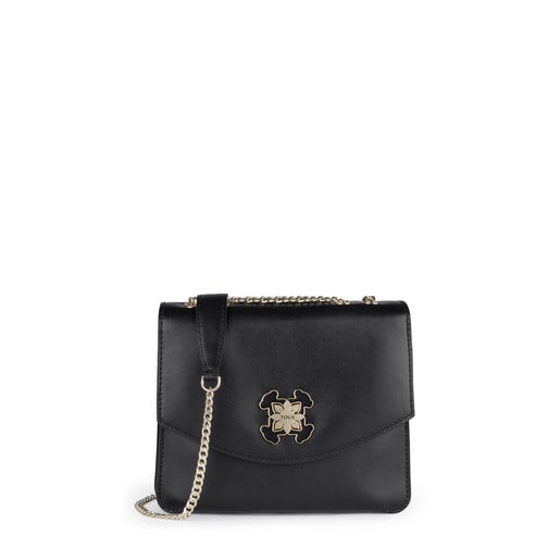 Small black Leather Liz Crossbody bag