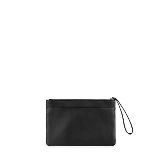 Τσάντα clutch Kaos Capitone σε μαύρο χρώμα