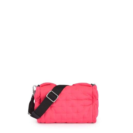 Μικρή Τσάντα Χιαστί Salsi σε Φωσφορίζον Ροζ χρώμα