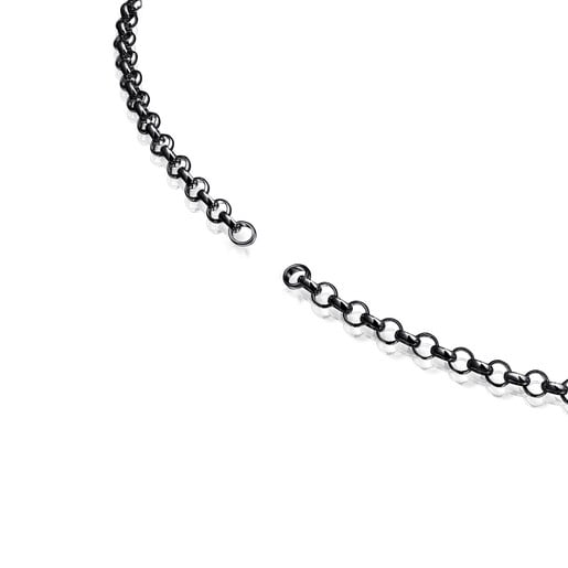 Cadena Hold de plata dark silver, 42cm.