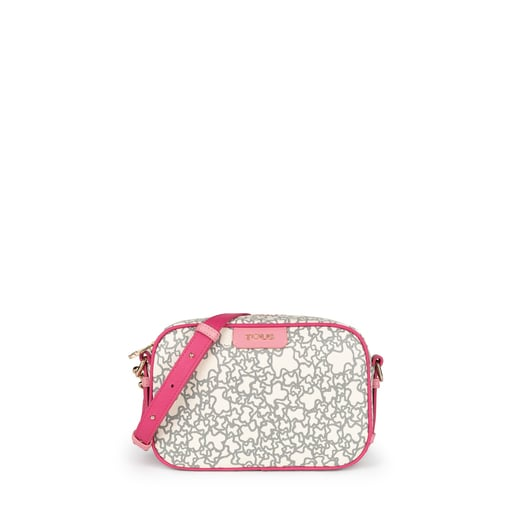 Beige and fuchsia Kaos Mini crossbody bag